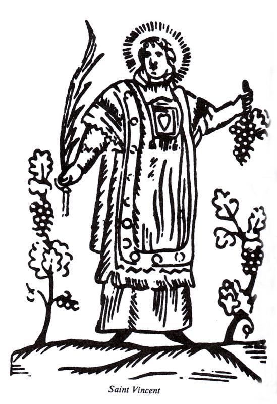 Gravure représentant saint Vincent.